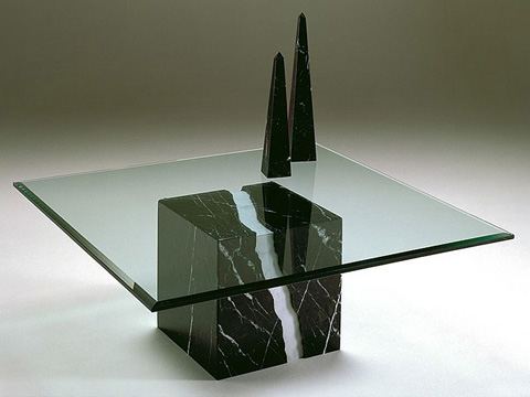 Stone International - Glass Top Cocktail Table - 7500