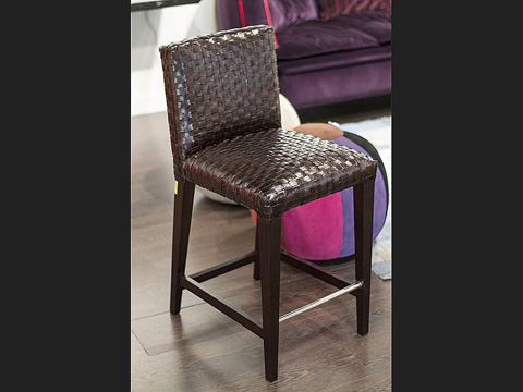 Stone International - Woven Leather Bar Stool - 0010/BA