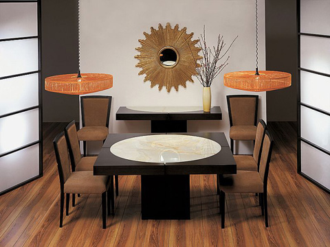 Stone International - Lacquered Square Dining Table - 8036/L