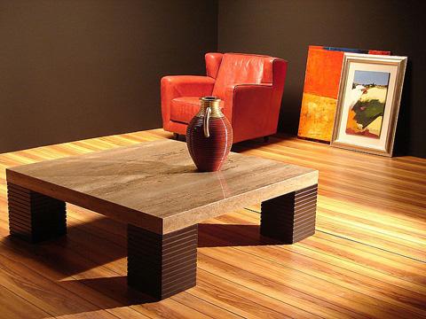Stone International - Rectangular Cocktail Table - 8042