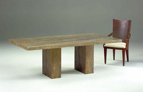 Stone International - Dining Table with Double Pedestal - 9216/S