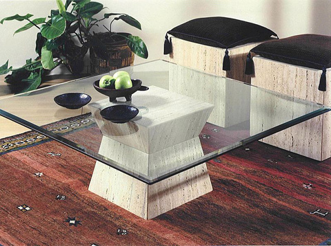 Stone International - Occasional Table with Casters - 9357