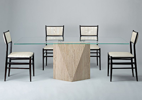 Stone International - Freedom Glass Dining Table - 4196/L