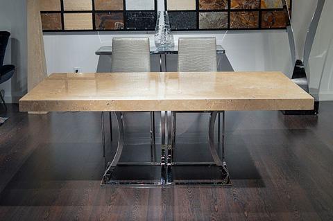 Stone International - Aurora Steel Dining Table - 8196/L