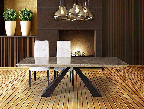 Stone International - Butterfly Wood Dining Table - 9696