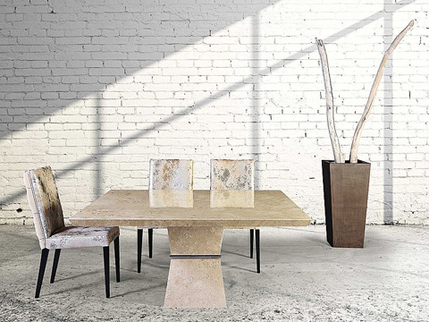 Stone International - Clepsy Plus Stone Dining Table - 9886/SQ
