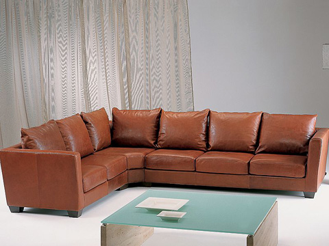 Stone International - Leather Sectional - 0840/A/0840/G/0840/D