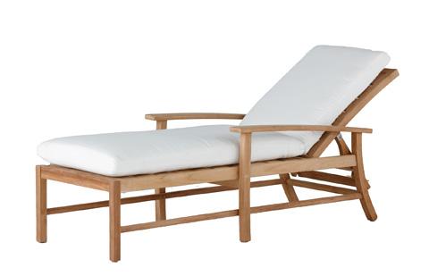 Summer Classics - Charleston Teak Chaise Lounge - 244315