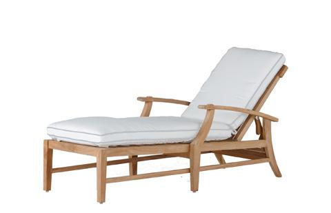 Summer Classics - Croquet Teak Chaise Lounge - 28234