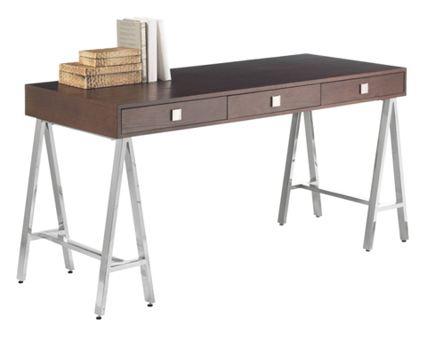 Sunpan Modern Home - Embassy Desk in Espresso - 53572
