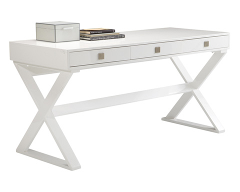 Sunpan Modern Home - Emilio Desk in High Gloss White - 63576