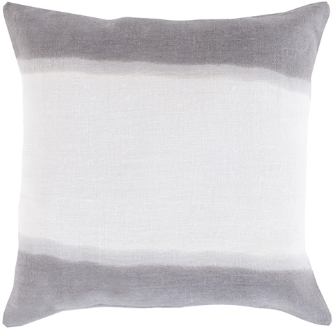 Surya - Charcoal and Ash Gray Pillow with Down Filler - DD003-1818D