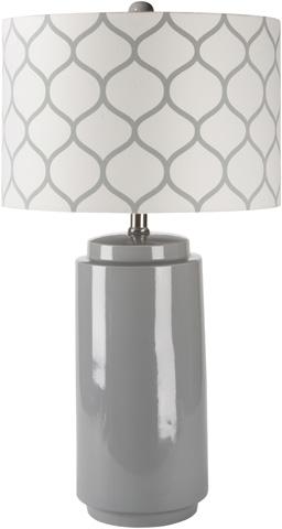 Surya - Gray Hadley Lamp - HALP-001