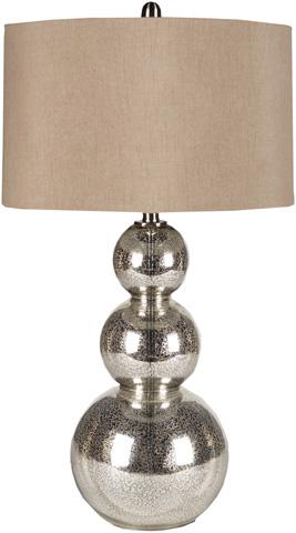 Surya - Silver Sphere Lamp - LMP-1018