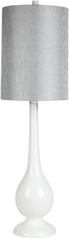 Surya - White Table Lamp - LMP-1021