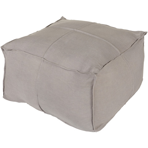 Image of Solid Linen Pouf