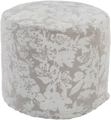 Surya - Clara Round Pouf - CAPF006-181818