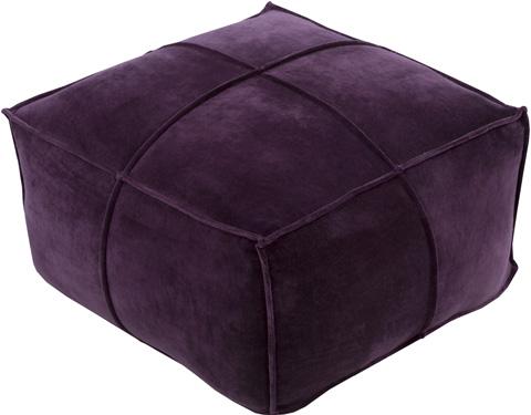 Surya - Cotton Velvet Pouf - CVPF006-242413