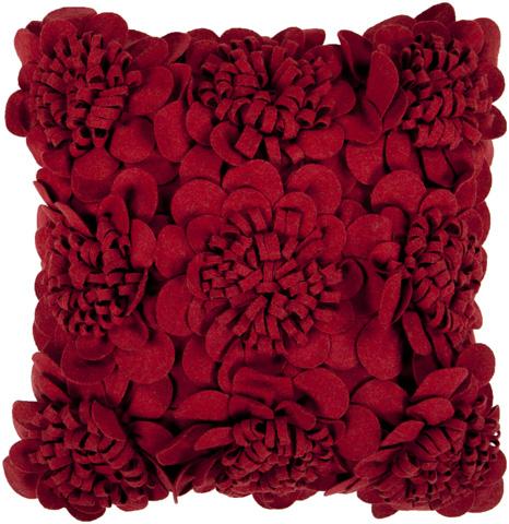 Surya - Felt Garden Throw Pillow - FA084-1818D