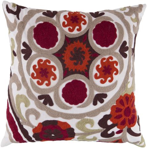Surya - Botanical Throw Pillow - FF028-1818D