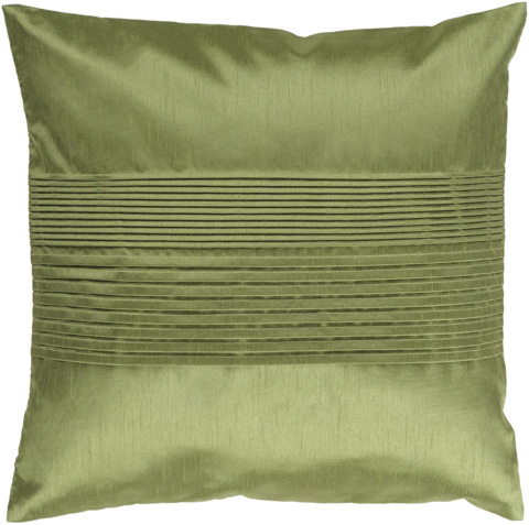 Surya - Solid Pleated Throw Pillow - HH013-1818D