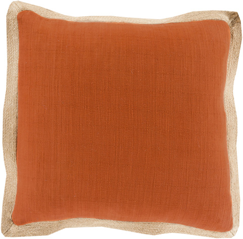 Surya - Jute Flange Throw Pillow - JF004-1818D