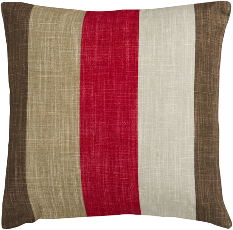 Surya - Simple Stripe Throw Pillow - JS012-1818P