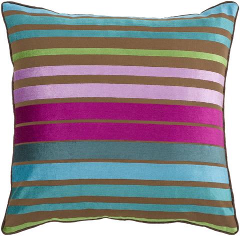 Surya - Velvet Stripe Throw Pillow - JS019-1818D