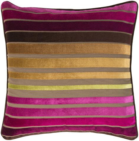 Surya - Velvet Stripe Throw Pillow - JS020-1818D