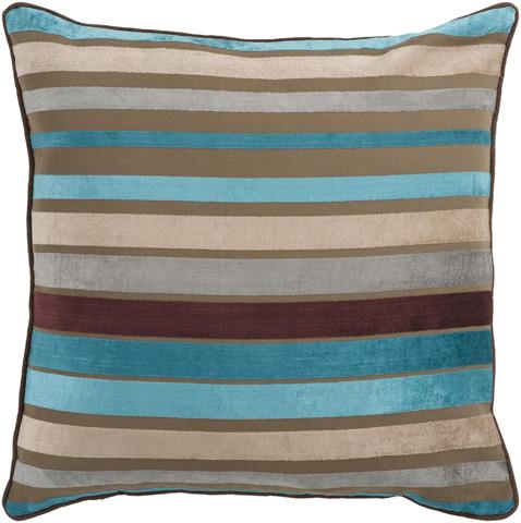 Surya - Velvet Stripe Throw Pillow - JS024-1818D