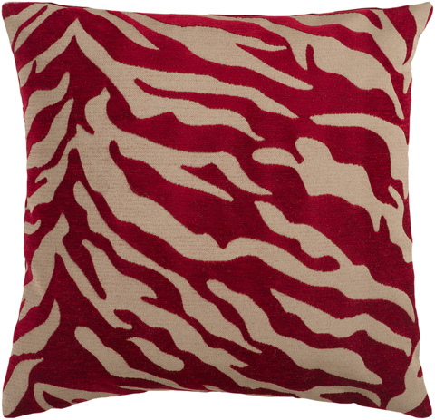 Surya - Velvet Zebra Throw Pillow - JS026-1818D