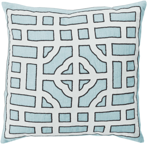 Surya - Chinese Gate Throw Pillow - LD047-1818D