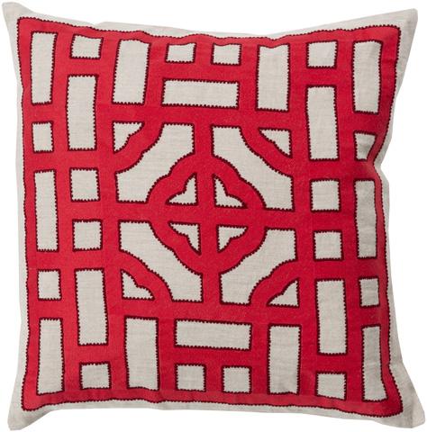 Surya - Chinese Gate Throw Pillow - LD049-1818D