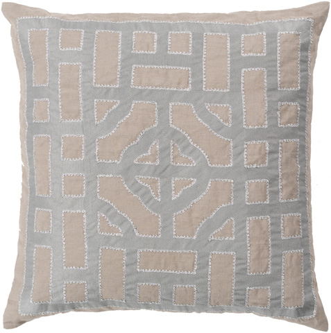 Surya - Chinese Gate Throw Pillow - LD050-1818D
