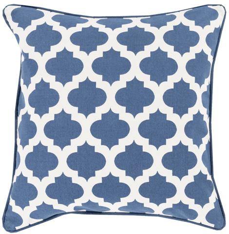 Surya - Morrocan Printed Lattice Throw Pillow - MPL001-1818D