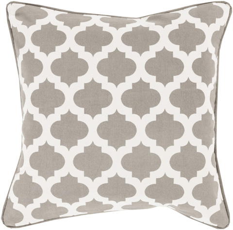 Surya - Morrocan Printed Lattice Throw Pillow - MPL008-1818D
