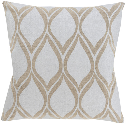 Surya - Metallic Stamped Throw Pillow - MS001-1818D
