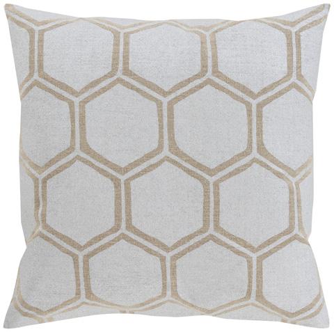 Surya - Metallic Stamped Throw Pillow - MS003-1818P
