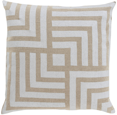 Surya - Metallic Stamped Throw Pillow - MS004-1818D