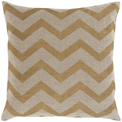 Surya - Metallic Stamped Throw Pillow - MS005-1818D