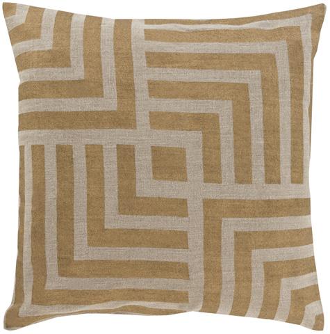 Surya - Metallic Stamped Throw Pillow - MS006-1818D