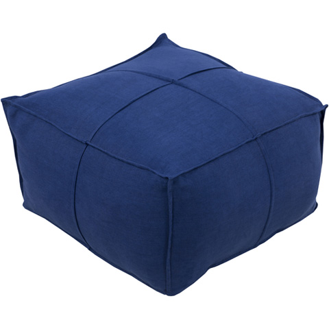 Surya - Solid Linen Square Ottoman - SLPH007-242413