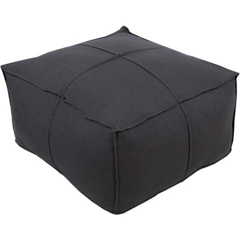 Surya - Solid Linen Square Ottoman - SLPH009-242413
