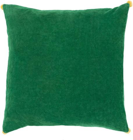 Surya - Velvet Poms Throw Pillow - VP006-1818P