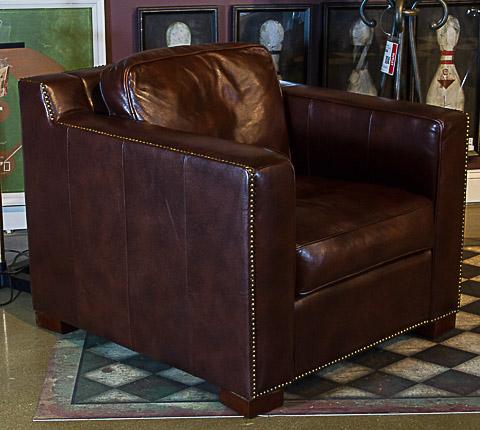 Image of Havasu Chocolate Leather Club Chair