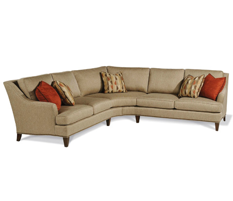 Taylor King Fine Furniture - Beckham Two Piece Wedge Sectional - K21-35/K21-36