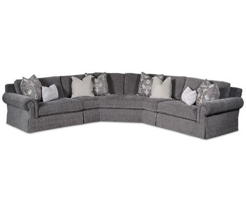 Taylor King Fine Furniture - Tremont Skirted Sectional - 3915-11SK/3915-28SK/3915-12SK