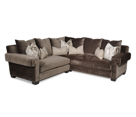 Taylor King Fine Furniture - Gramercy Sectional Sofa - 3515-21/3515-34