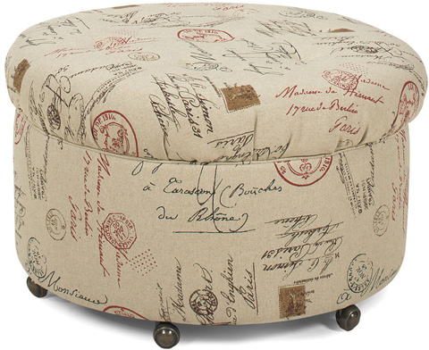 Temple Furniture - Reyna Ottoman with Casters - 33