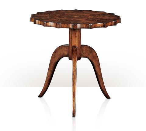 Theodore Alexander - Modern Piecrust Round Lamp Table - 5005-607